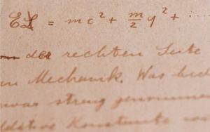 Manuscritos da teoria da relatividade de Einstein Render