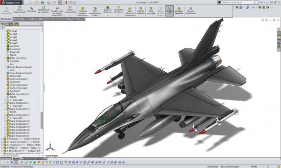 Avião SolidWorks