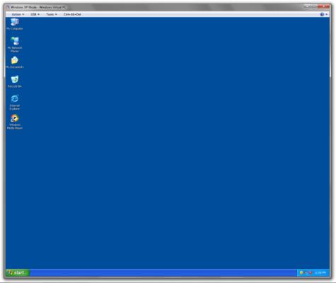 Windows XP dentro de um computador com Windows 7