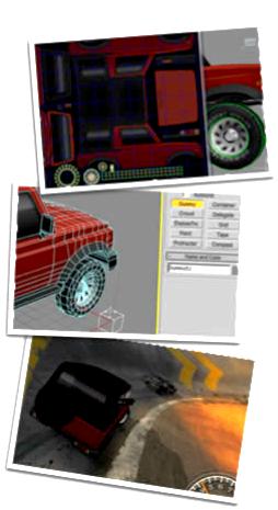 Montagem 3ds max Carro