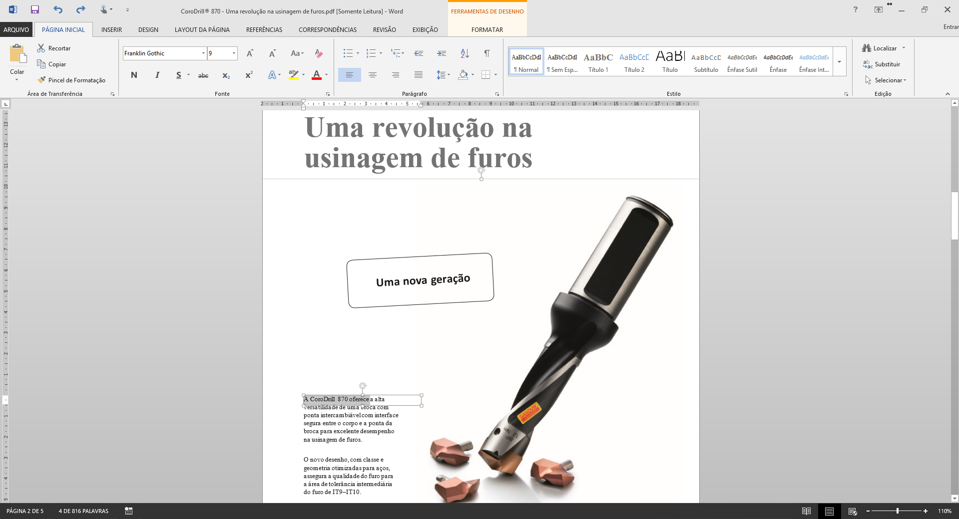 PDF - Conversão Word