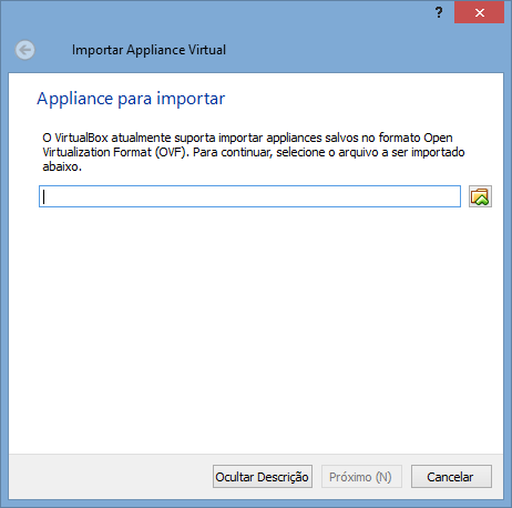 VirtualBox - Importar Appliance 2