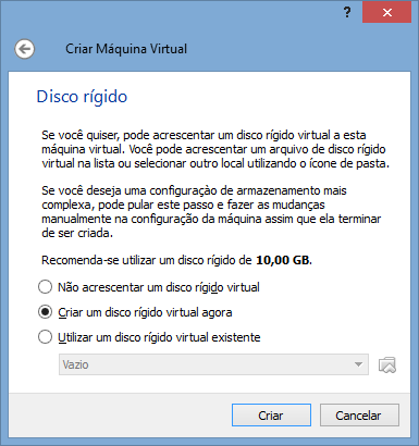 VirtualBox - Nova VM 3 - HD