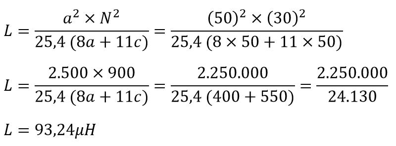 Fórmula Bobinas espiraladas 3