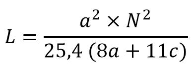 Fórmula Bobinas espiraladas