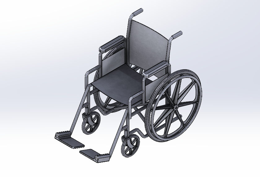 SolidWorks Exemplos Práticos - Cadeira de Rodas