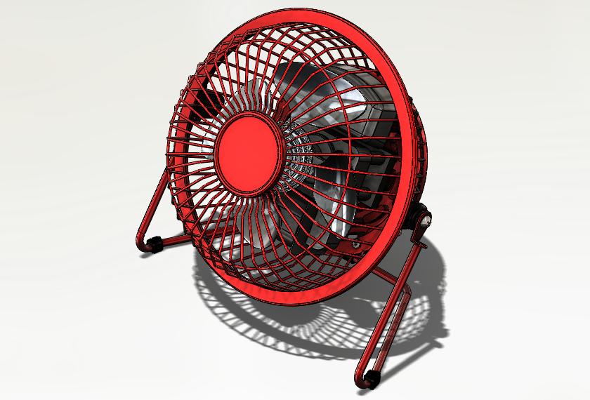 SolidWorks Exemplos Práticos - Ventilador de mesa