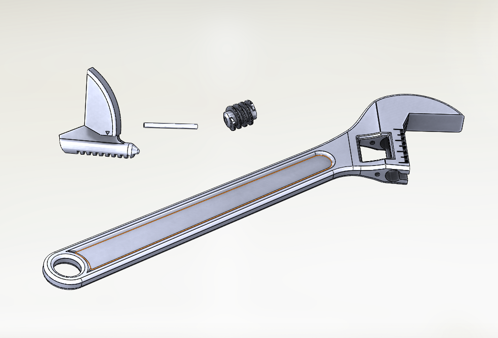 SolidWorks Exemplos Práticos - Chave Inglesa