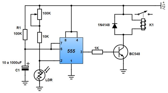Circuito de sensor de luz