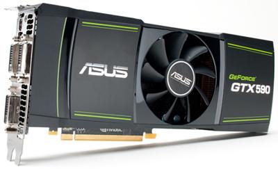 GPU Nvidia modelo: GeForce GTX 590 montado pela Asus - https://www.stanford.edu/group/pandegroup/folding/pics/GeForceGTX590.jpg