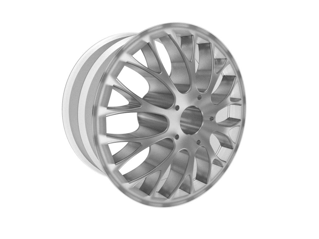 Roda modelada com superfícies no Inventor