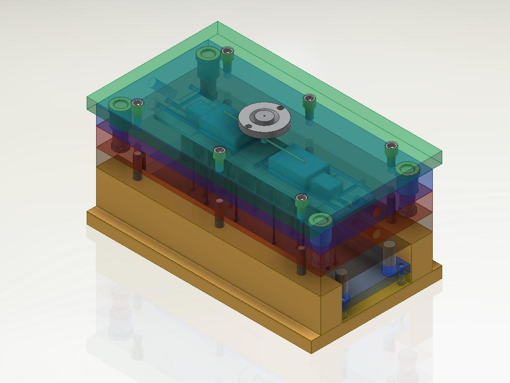 Projeto de molde desenvolvido no Inventor
