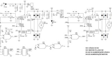 Circuito de Controle para Robôs com dois Motores Utilizando CI L298