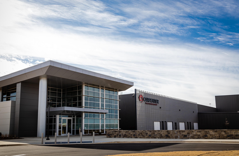 O Emerging Technology Center (ETC), em Atenas, Alabama. Foto via Carpenter Technology.