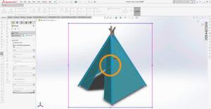 Tutorial avançado – Crie uma tenda de lona de madeira com SolidWorks