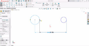 Usando a ferramenta de dimensão inteligente do SOLIDWORKS ao desenhar arcos e círculos