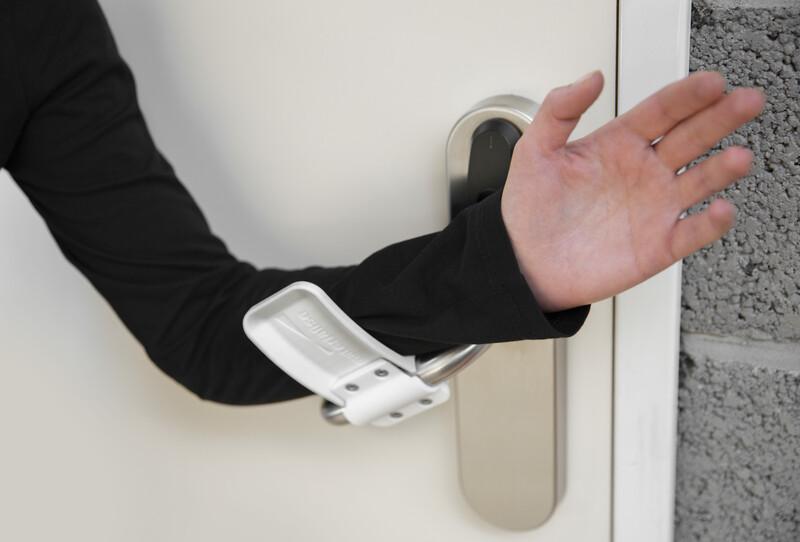 Abridor de porta mãos-livres