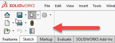 Melhorias na interface do usuário do SOLIDWORKS 2020