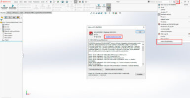 Como encontrar versão, Service Pack e número de série do SOLIDWORKS?