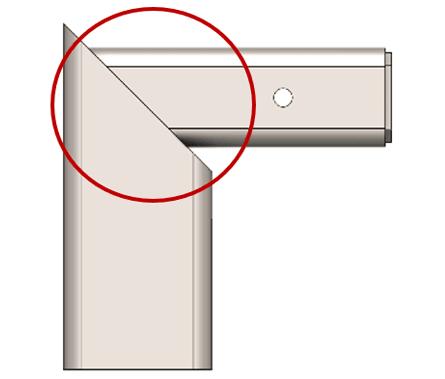 esquadria de ângulo igual
