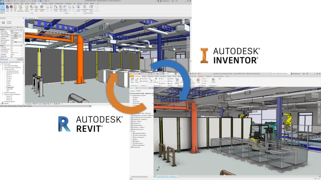 O que há de novo no Inventor 2022 - exporte um projeto Revit (RVT) do Inventor