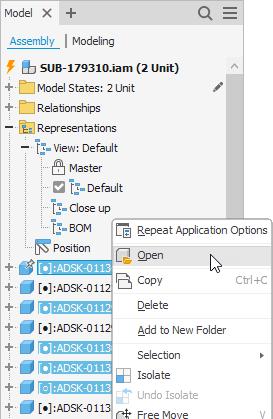 Autodesk Inventor 2022 abre vários arquivos do navegador