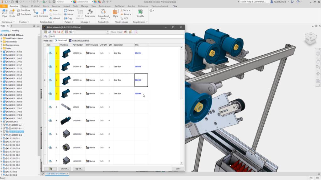 Propriedades de instância no Autodesk Inventor 2022 permitem que dados de iProperty personalizados sejam adicionados ou substituídos para componentes individuais