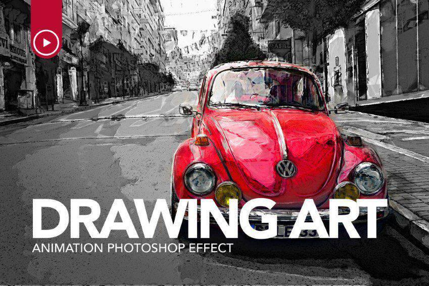 Desenho Arte Animação Photoshop Action