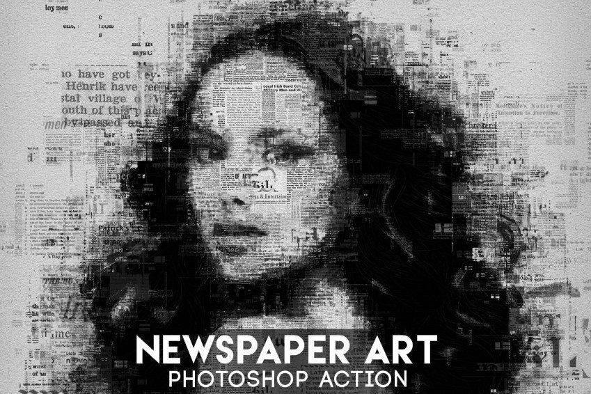 Jornal Art Photoshop Action