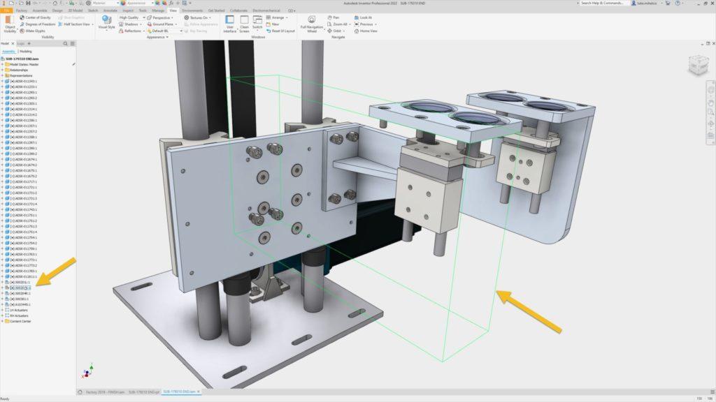 A atualização do Autodesk Inventor destaca os componentes invisíveis