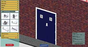 Configuração do componente da porta